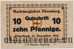Эберсберг (Ebersberg), 10 пфеннингов 1916 года. Вар. 1
