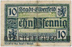 Эльберфельд (Elberfeld), 10 пфеннингов 1920 года