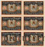 Вайсенфельс (Weissenfels), 6 нотгельдов 1921 года