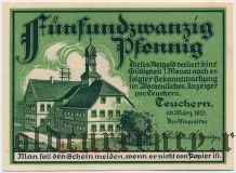 Тойхерн (Teuchern), 25 пфеннингов 1921 года