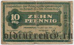 Германия, Frankfurt am Main, 10 пфеннингов 1917 года
