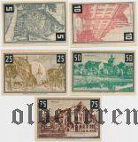 Вунсторф (Wunstorf), 5 нотгельдов 1922 года