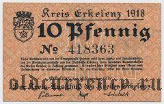 Эркеленц (Erkelenz), 10 пфеннингов 1919 года