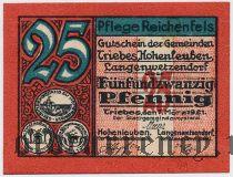 Трибес (Triebes), 25 пфеннингов 1921 года
