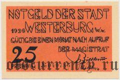 Вестербург (Westerburg), 25 пфеннингов 1920 года