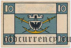 Вильгельмсхафен (Wilhelmshaven), 10 пфеннингов 1920 года
