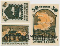 Тессин (Tessin), 3 нотгельда 1922 года