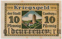 Камбург (Camburg), 10 пфеннингов 1919 года