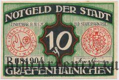 Грефенхайнихен (Gräfenhainichen), 10 пфеннингов 1921 года