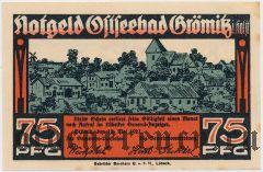 Грёмиц (Grömitz), 75 пфеннингов 1921 года