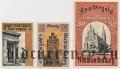 Нойбранденбург (Neubrandenburg), 3 нотгельда 1922 года