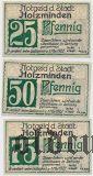 Хольцминден (Holzminden), 3 нотгельда 1922 года