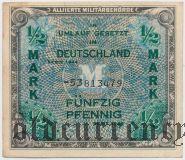 Германия, 1/2 марки 1944 года. Советская зона оккупации