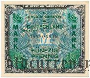 Германия, 1/2 марки 1944 года. Английская зона оккупации