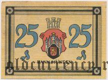 Ганн. Мюнден (Hann. Münden), 25 пфеннингов 1922 года
