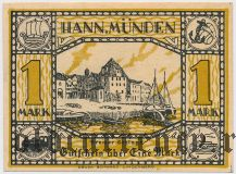 Ганн. Мюнден (Hann. Münden), 1 марка 1922 года