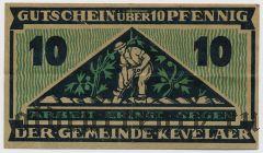 Кевелар (Kevelaer), 10 пфеннингов 1921 года. Вар. 2