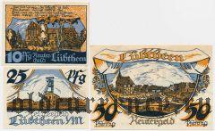 Любтен (Lübtheen), 3 нотгельда 1922 года