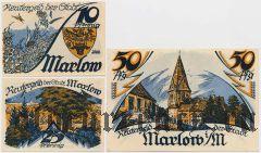 Марлов (Marlow), 3 нотгельда 1922 года