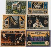 Нордхаузен (Nordhausen), 6 нотгельдов 1921 года