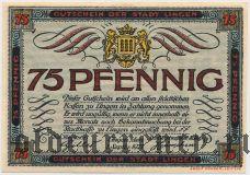 Линген (Lingen), 75 пфеннингов 1921 года
