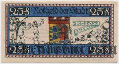 Фленсбург (Flensburg), 25 пфеннингов 1920 года. Вар. 2