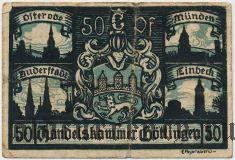 Гёттинген (Göttingen), 50 пфеннингов 1920 года. Вар. 2