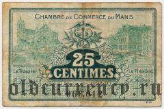 Франция, Mans, 25 сантимов 1922 года