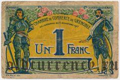 Франция, Grenoble, 1 франк 1917 года