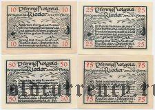 Ридер (Rieder), 4 нотгельда 1921 года