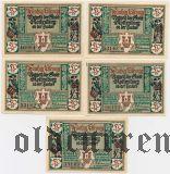 Ротенбург (Rothenburg), 5 нотгельдов 1921 года