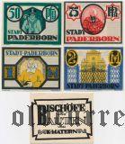 Падерборн (Paderborn), 4 нотгельда 1921 года. В оригинальном конверте