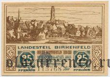 Биркенфельд (Birkenfeld), 25 пфеннингов 1921 года