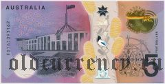 Австралия, 5 долларов 2016 года. На пластике