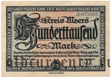 Моерс (Moers), 100.000 марок 1923 года
