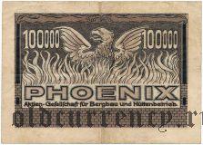 Дюссельдорф (Düsseldorf) Phoenix, 100.000 марок 1923 года