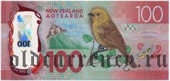 Новая Зеландия, 100 долларов 2016 года. На пластике