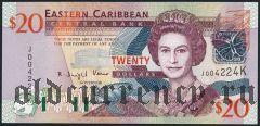 Восточные Карибы, Сент-Китс, 20 долларов (2003) года