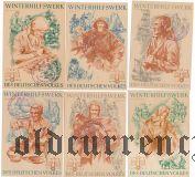 Германия, winterhilfswerk (зимняя помощь) 1938-39 гг., 6 шт. С печатью