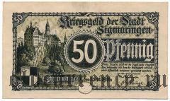 Зигмаринген (Sigmaringen), 50 пфеннингов 1918 года