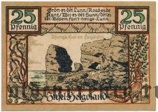Гельголанд (Helgoland), 25 пфеннингов 1921 года. Вар. 2
