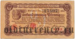 Ахен (Aachen), 25 пфеннингов 1918 года