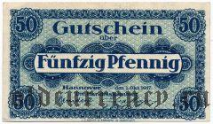 Ганновер (Hannover), 50 пфеннингов 1917 года