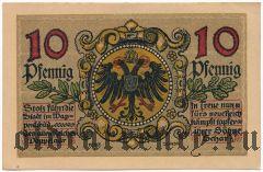 Донаувёрт (Donauwörth), 10 пфеннингов 1918 года