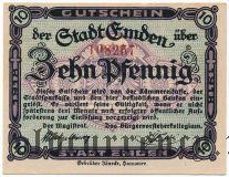 Эмден (Emden), 10 пфеннингов 1918 года