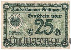 Гёттинген (Göttingen), 25 пфеннингов 1917 года