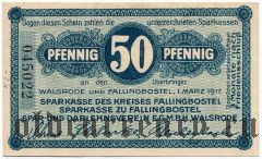 Вальсроде и Фаллингбостель (Walsrode und Fallingbostel), 50 пфеннингов 1917 года