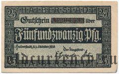 Хальберштадт (Halberstadt), 25 пфеннингов 1918 года