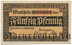Хальберштадт (Halberstadt), 50 пфеннингов 1918 года