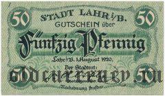 Лар (Lahr), 50 пфеннингов 1920 года